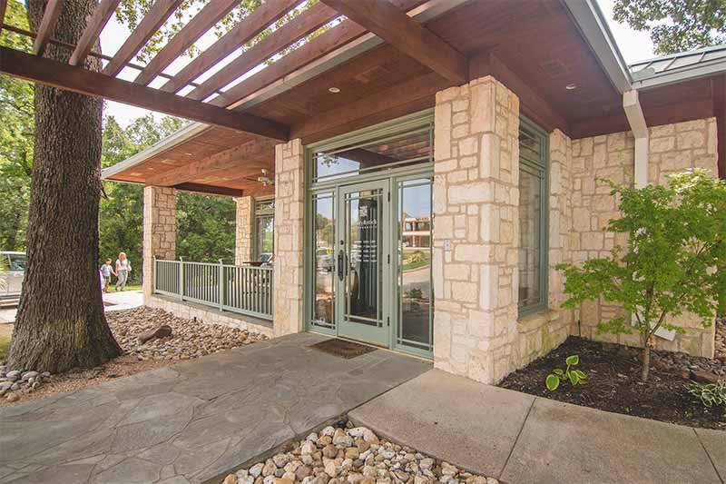 The Front Door at Bailey Orthodontics Serving Coppell, Lewisville, Irving, Flower Mound, Carrollton and Grapevine